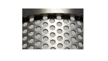 Bottom sieve 3 mm round perforation made of stainless steel